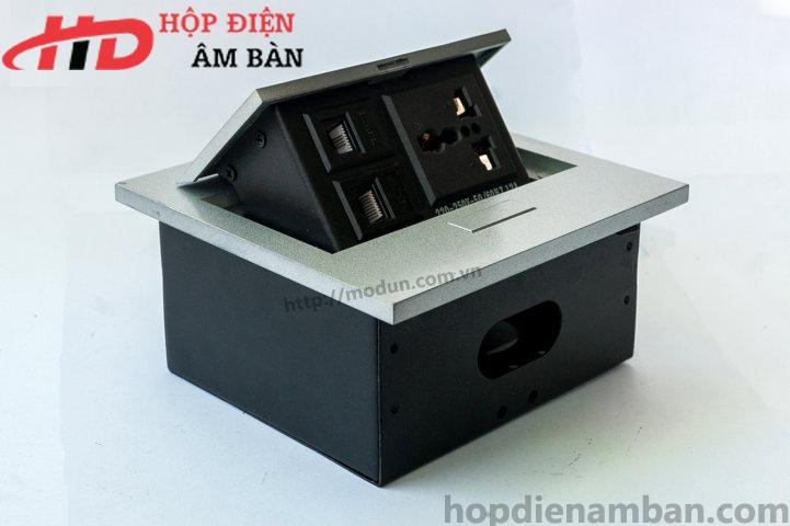 Hộp Điện Nhôm Âm Bàn HD-MD138-B