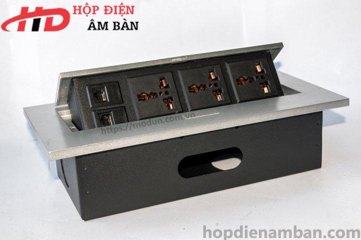 Hộp Điện Âm Sàn - Âm Bàn Nhôm HD-MD266-F